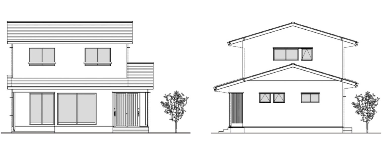 桧格子と縁側デッキのある家